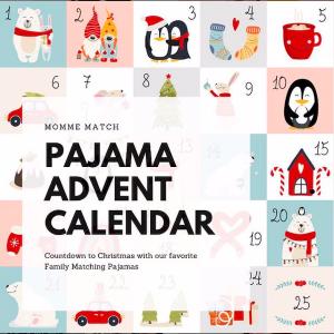 Family Matching Pajamas advent Calendar