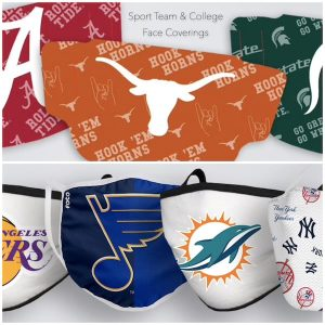 Sport Team and College Face Coverings