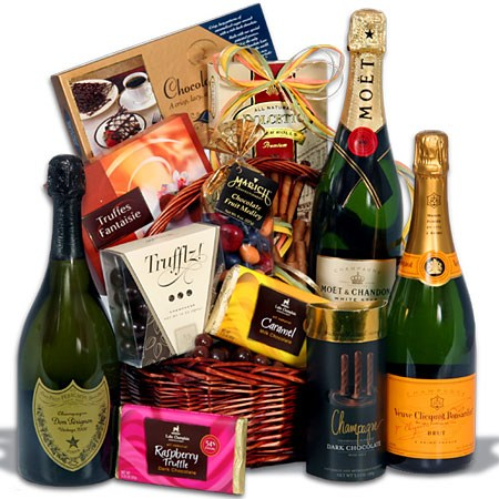 Champagne and Truffles Gift_Basket
