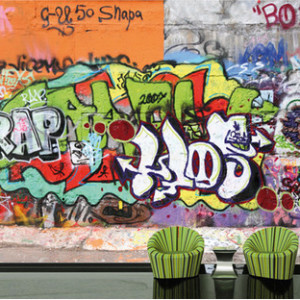 Boys Urban Graffiti Theme Bedroom Decor