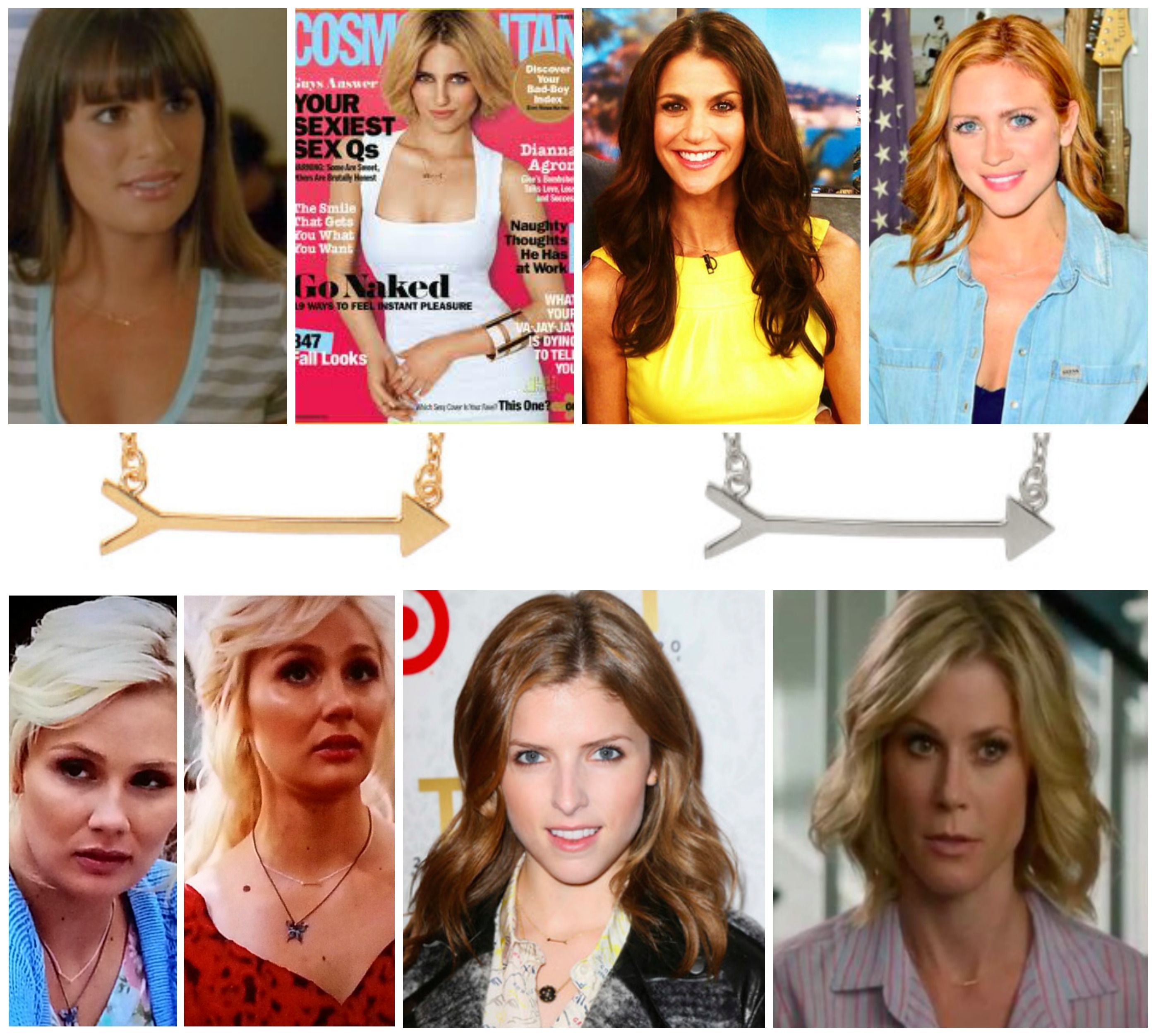 Celebrities Wearing On-the-Mark Arrow Necklace
