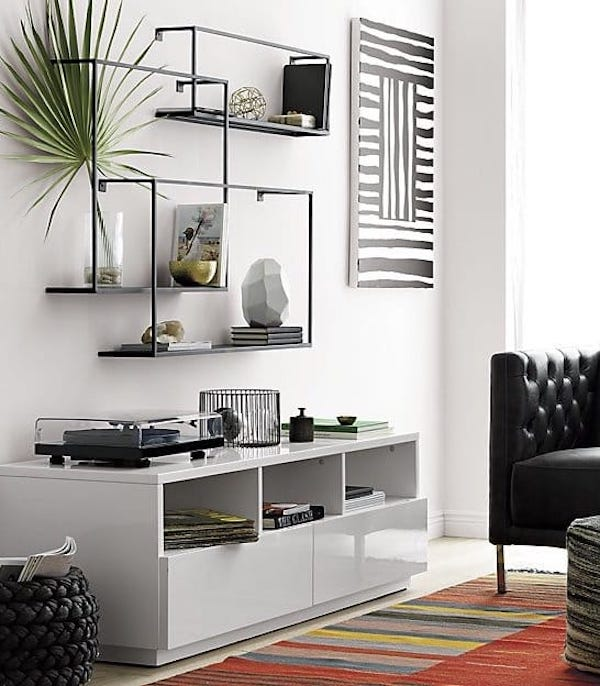 Industrial Modern Floating Shelf Set