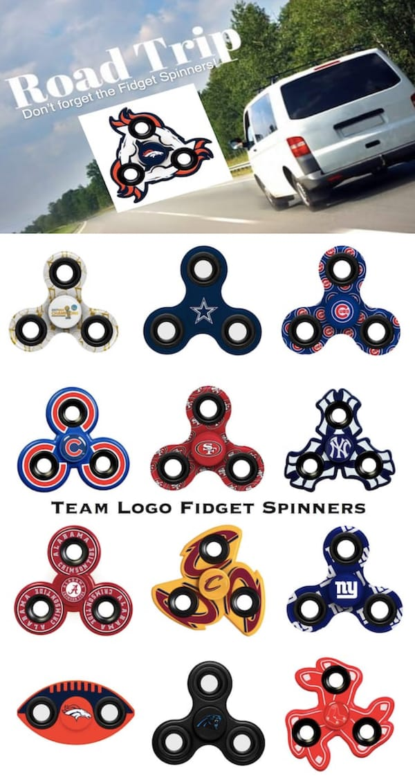 Road Trip Don't Forget the Fidget Spinners