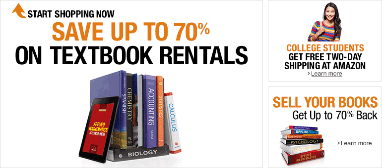 Amazon Textbooks, Rent College Textbooks