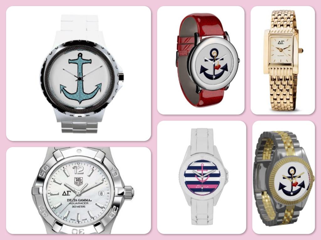 Delta Gamma Anchor Watches