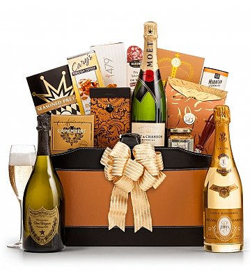 The Royal Champagne Gift Basket | Champagne Wishes Gift Basket
