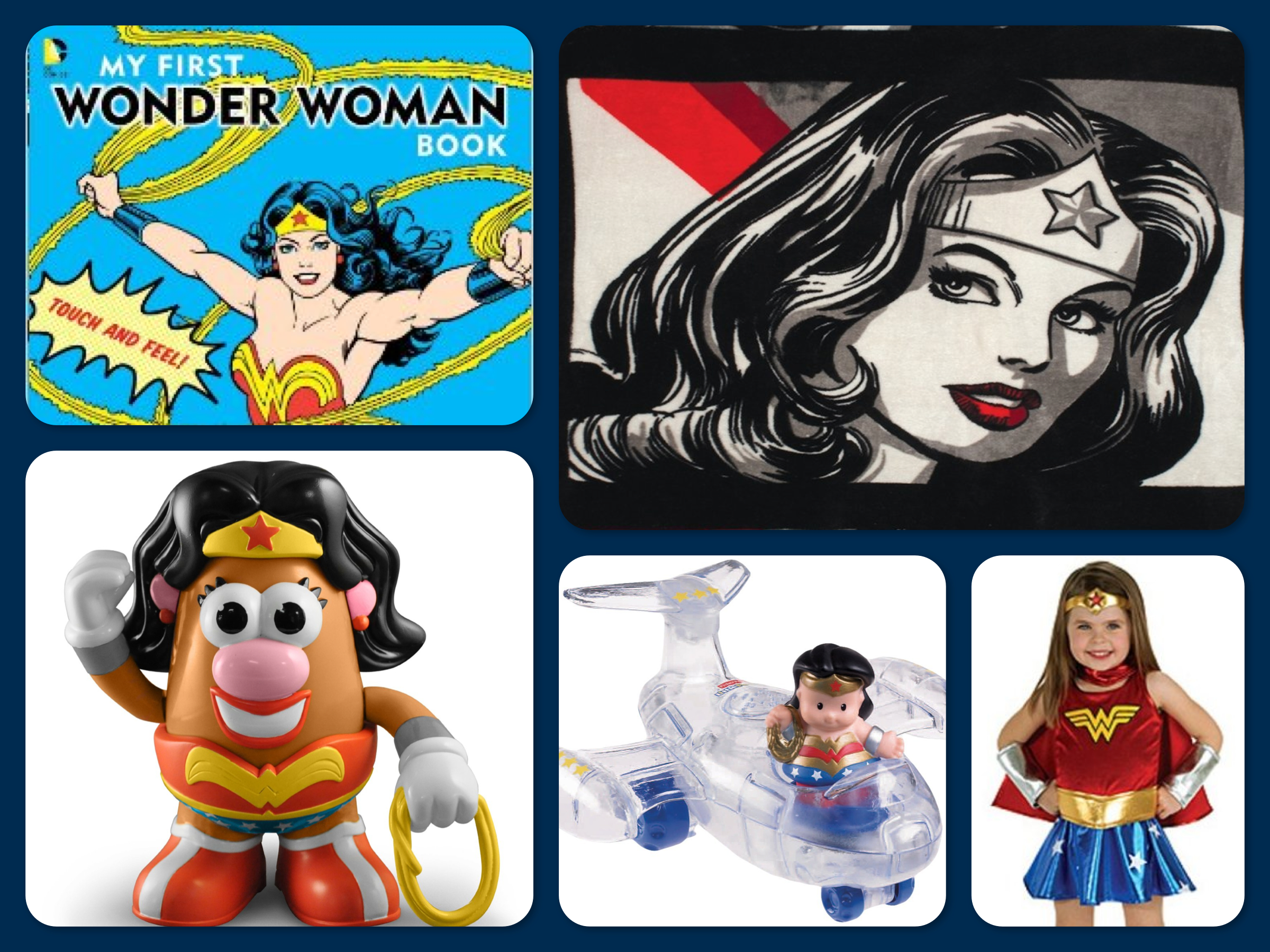 Wonder Woman Toys, Books, Costumes & Blankets