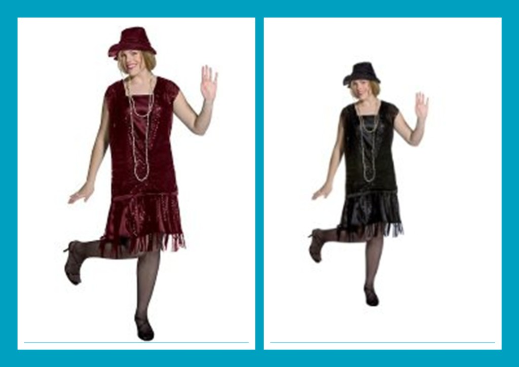 Plus Size Halloween Flapper Dresses With Cap Sleeves
