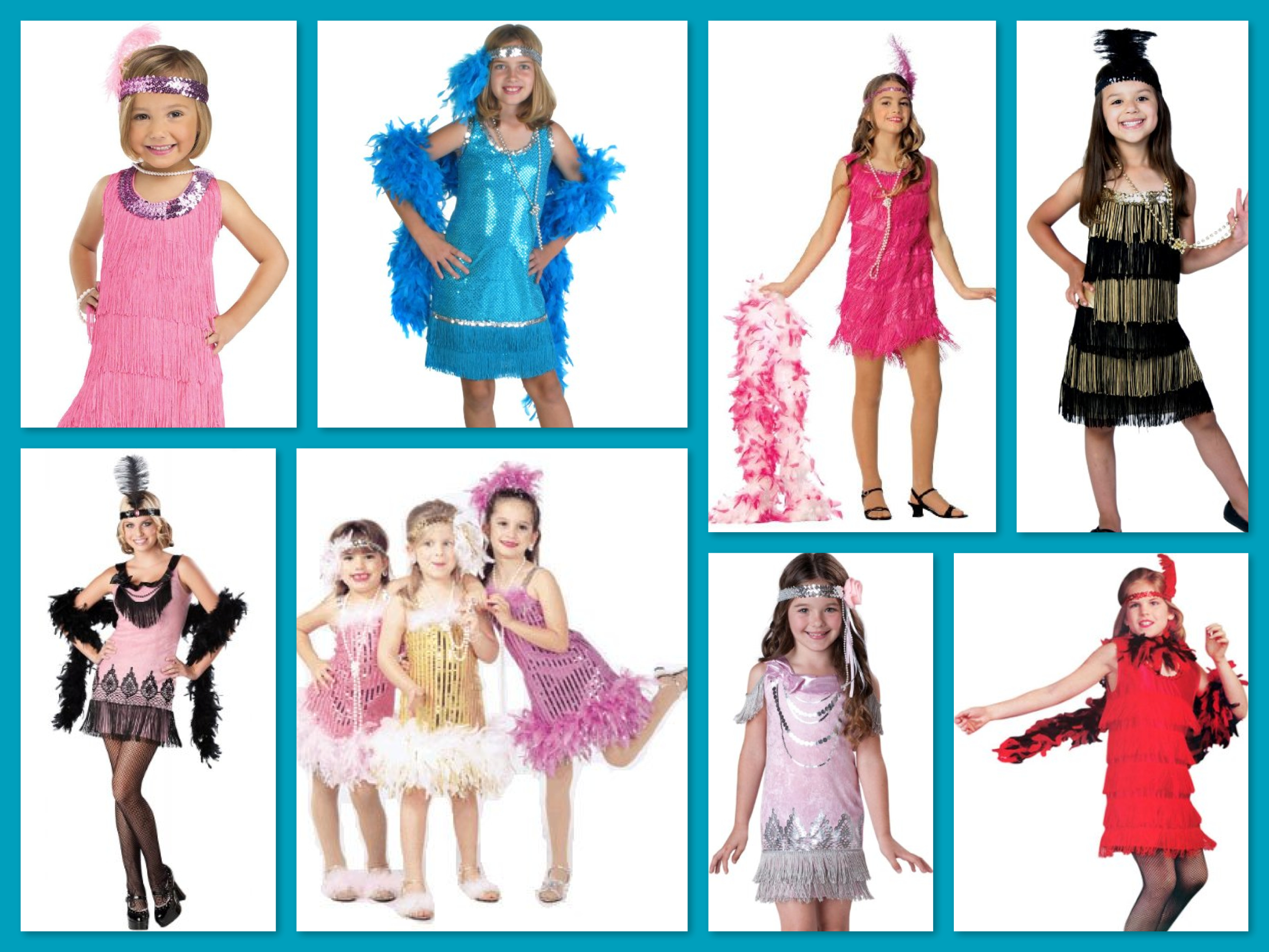Girls Great Gatsby Flapper Costumes