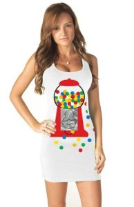 Gumball Popstar Costume Tank Dress as seen on Katy Perry