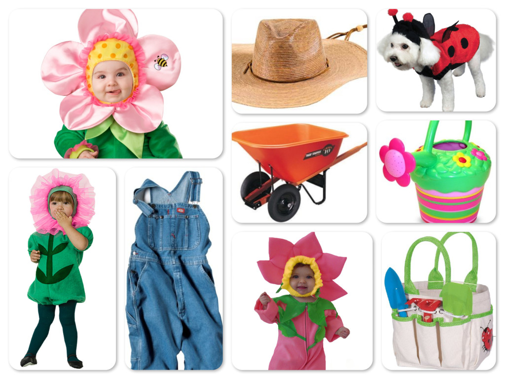 Mommy Daddy & Baby Halloween Gardening Costumes