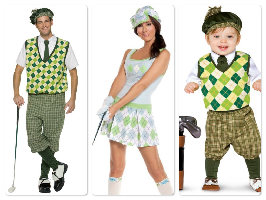 Mommy Daddy & Baby Golf Family Costumes