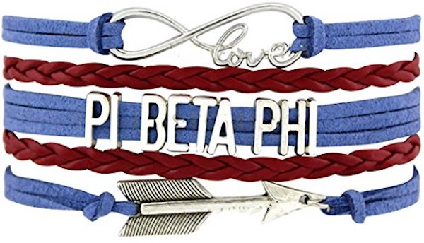 PI BETA PHI Arrow Love Charm Bracelet