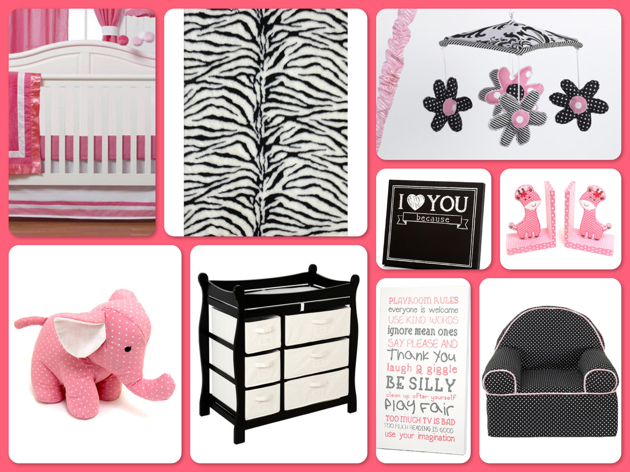 Zulily Dream Nursery Pink Amp Zebra Baby Room Decor