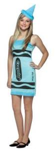 blue crayon dress