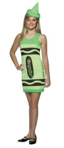 green crayon dress