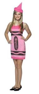 pink crayon dress