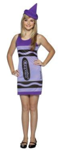 purple crayon dress