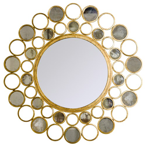 Gold Bubbles Mirror