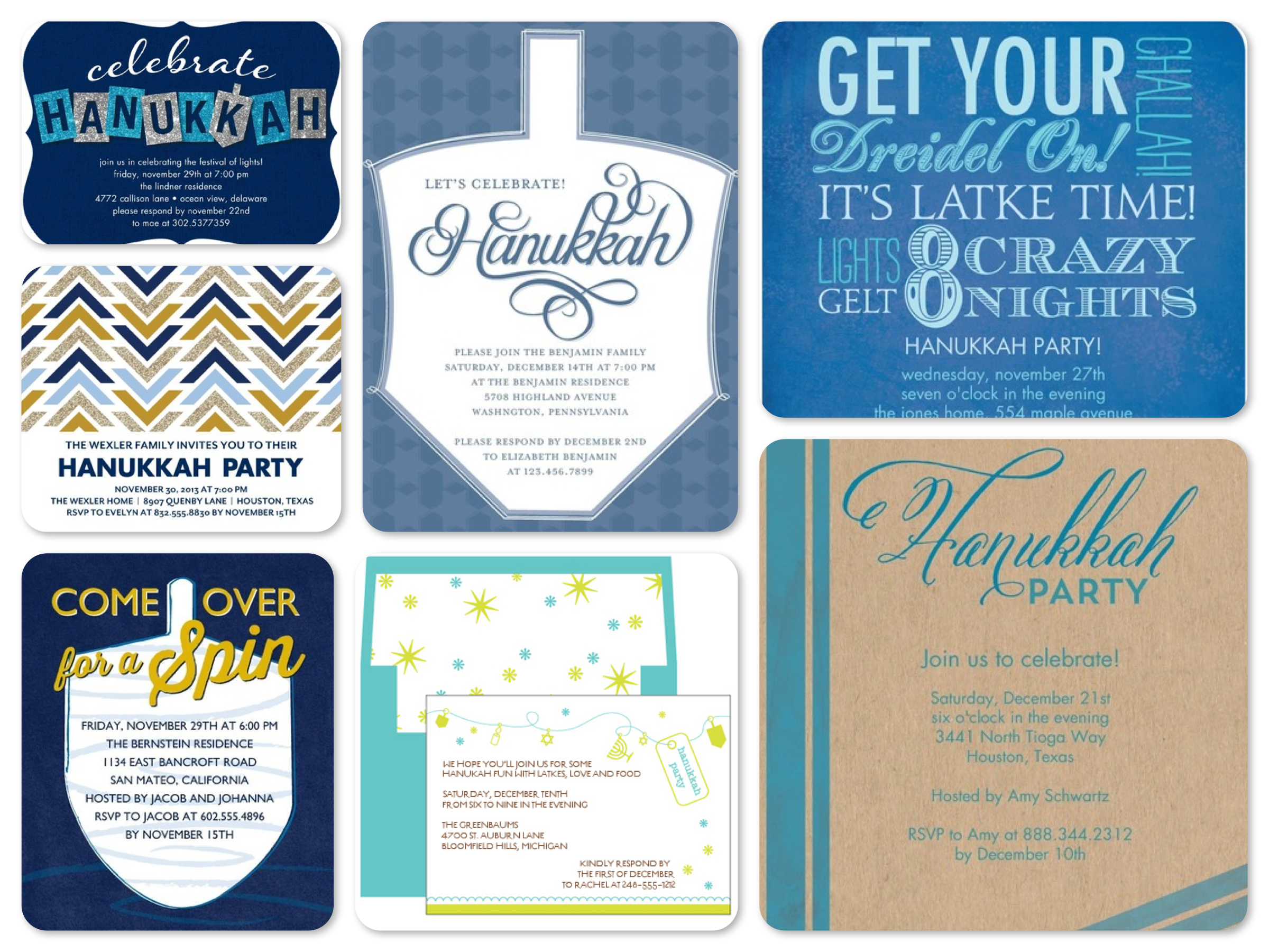Hanukkah Party Invitations