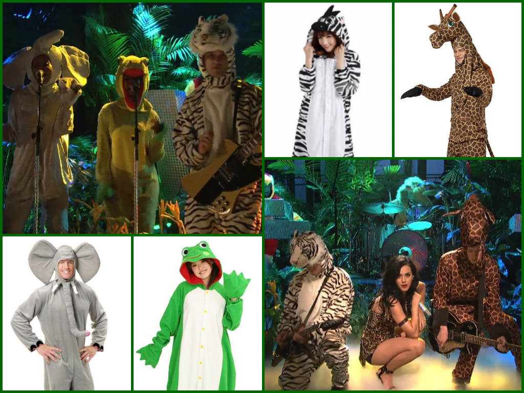 Katy Perry SNL Roar Group Costumes