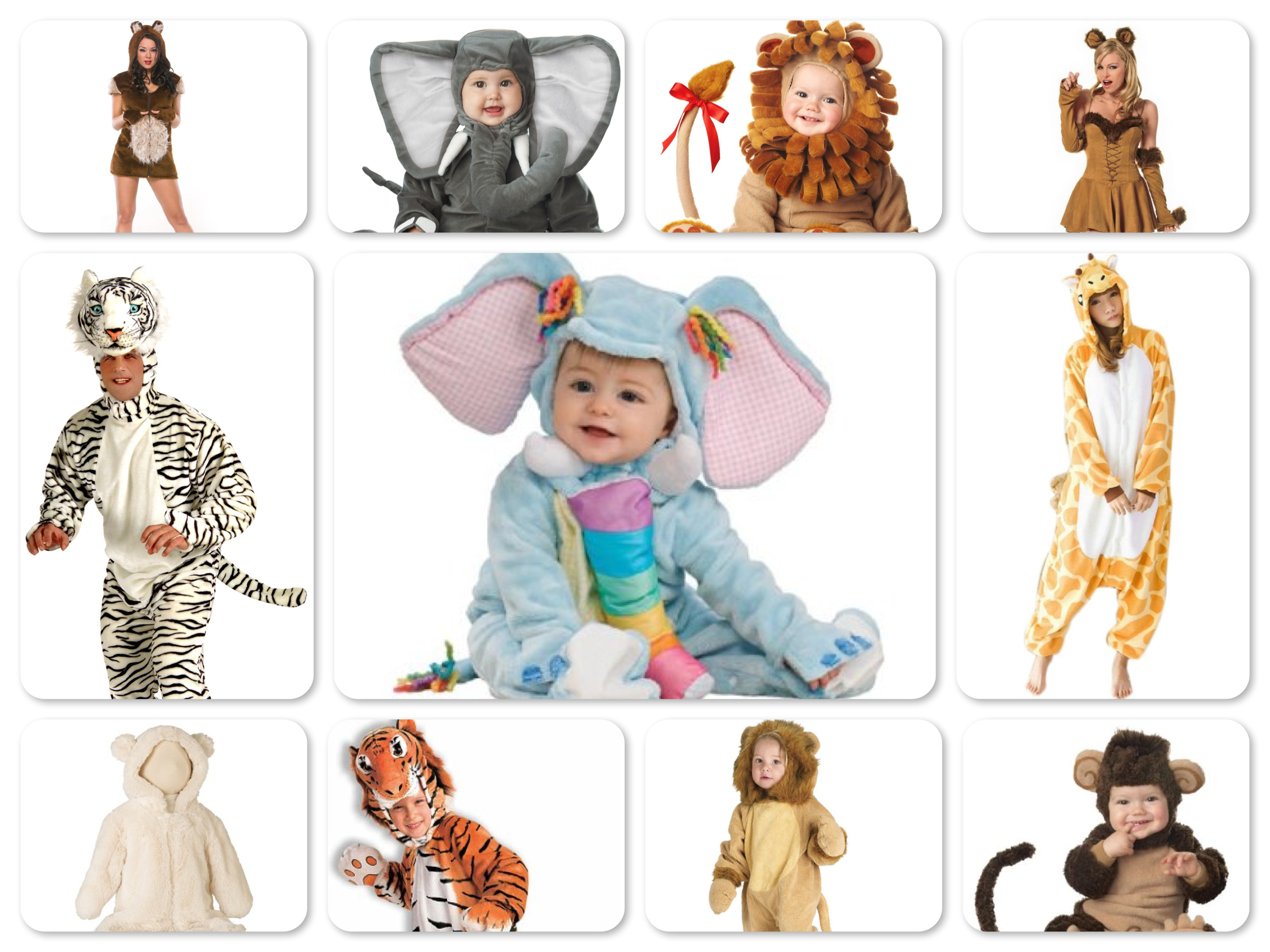 Mommy Daddy & Me Jungle Animal Costumes