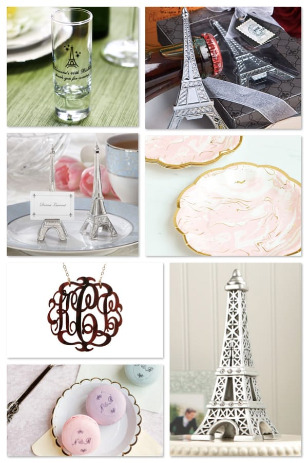 Parisian Themed Gifts and Party Supplies