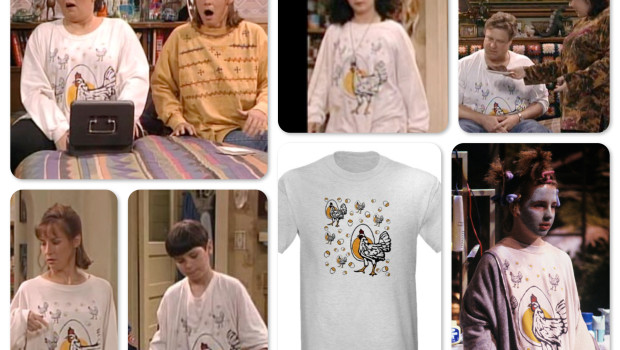 Roseanne Chicken T-shirt Worn by Cast