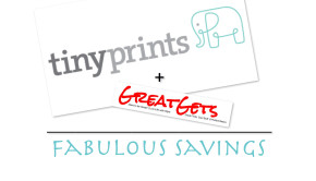Tiny Prints + GreatGets = Fabulous Savings