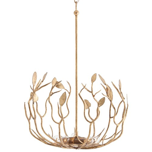 Upton Arteriors Gold Light Fixture