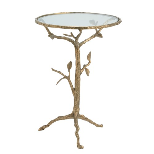 Brass accent table arteriors
