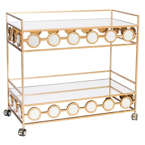 Gold Leafed Bar Cart