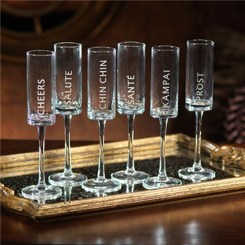 New Years Celebration Champagne Flute