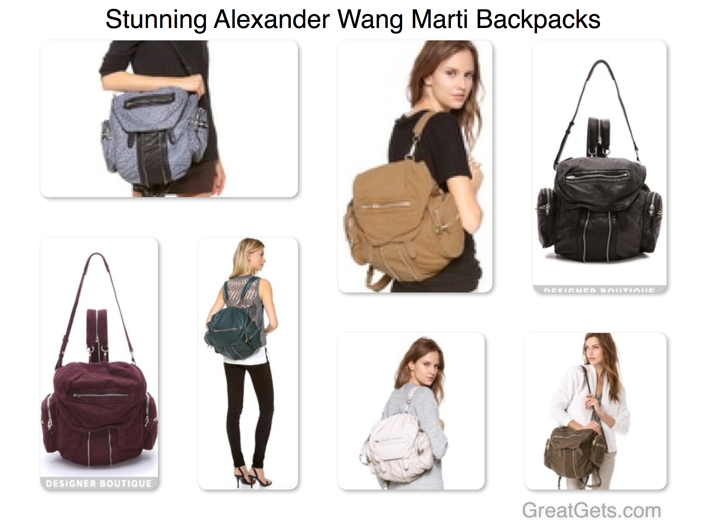Stunning Alexander Wang Marti Backpack
