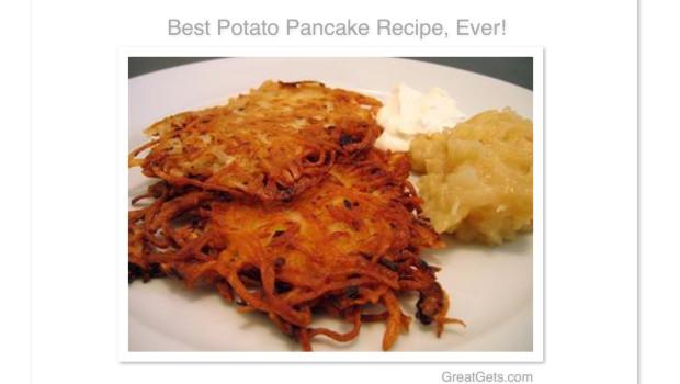 Best Potato Pancake Latke Recipe