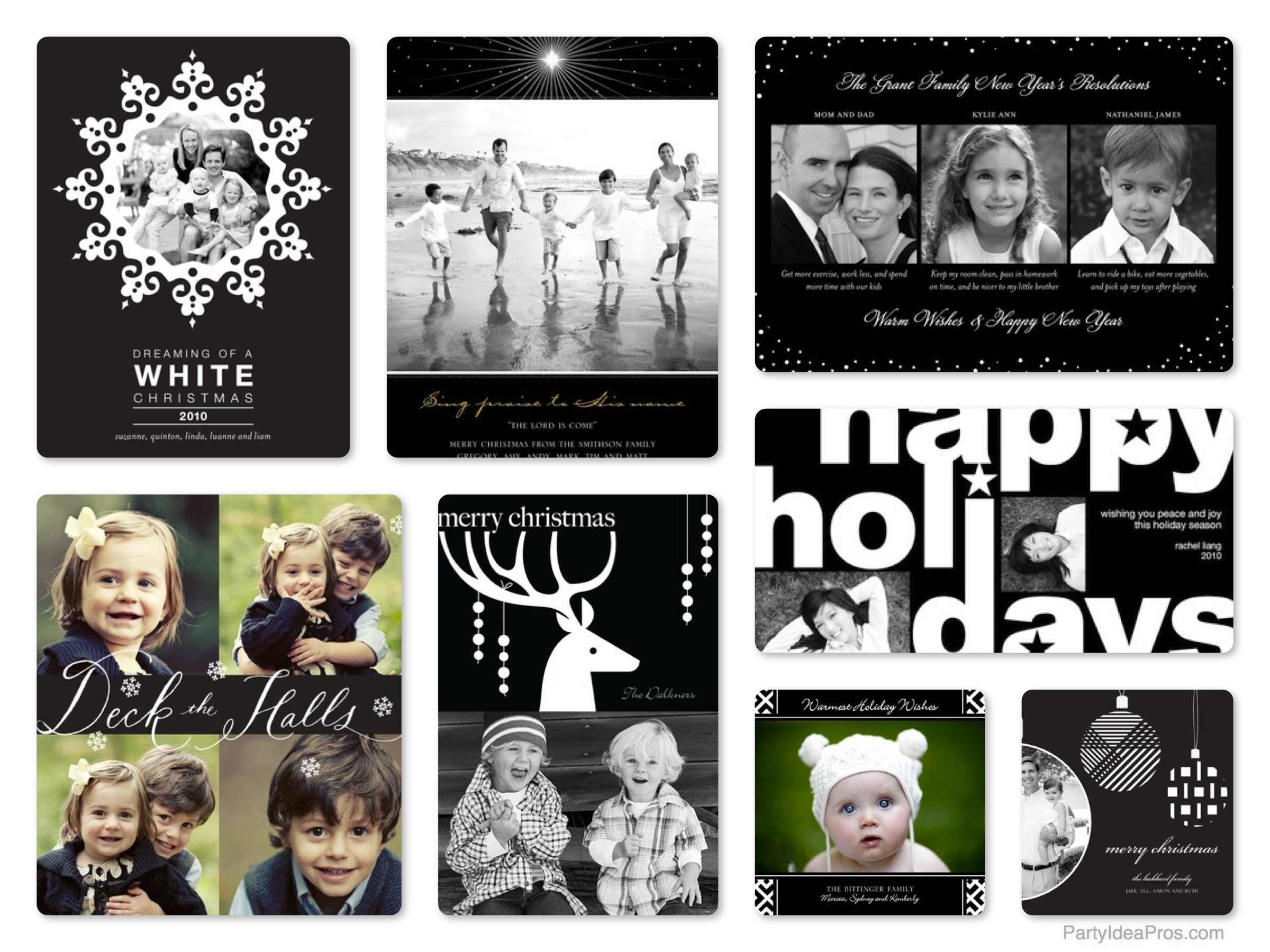 Black & White Christmas Cards on Sale at Tiny Prints | GreatGets.com