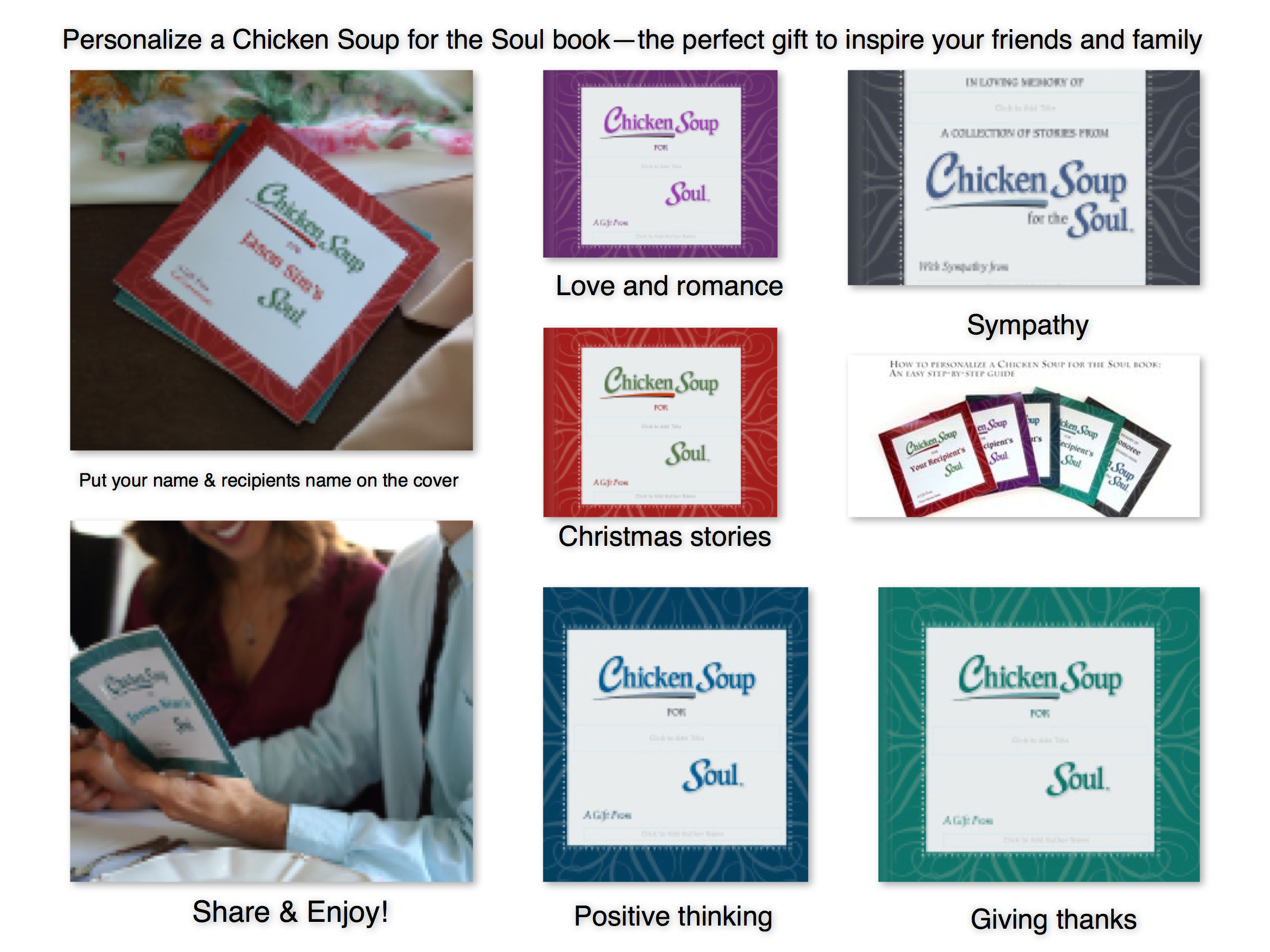 Blurb's Personalized Chicken Soup for the Soul Books
