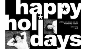 Happy holiday black & white cards