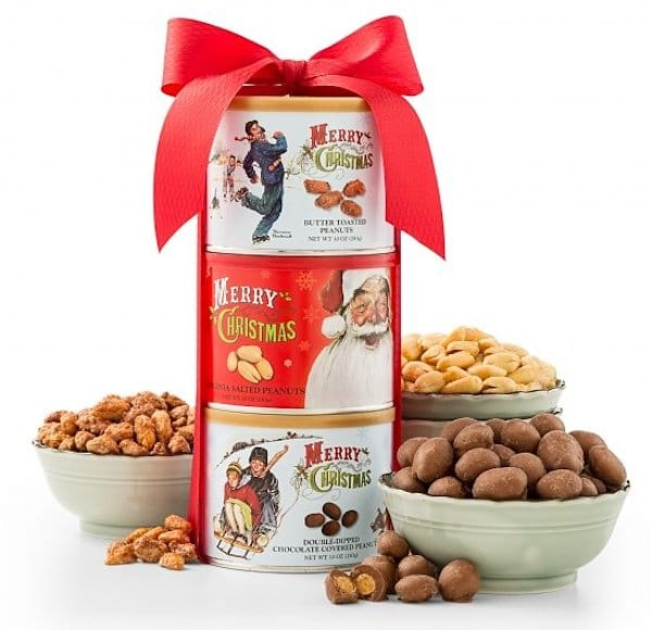 Norman Rockwell Christmas Tower of Nuts