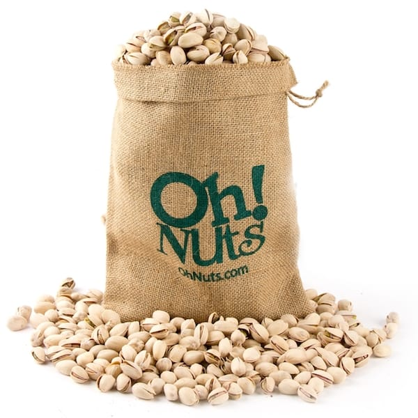 Burlap Sack filled with Pistachios