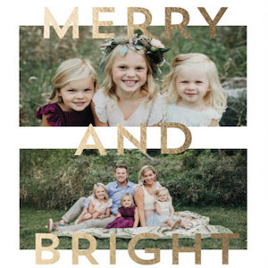 Shine So Bright Foil-Pressed Holiday Cards