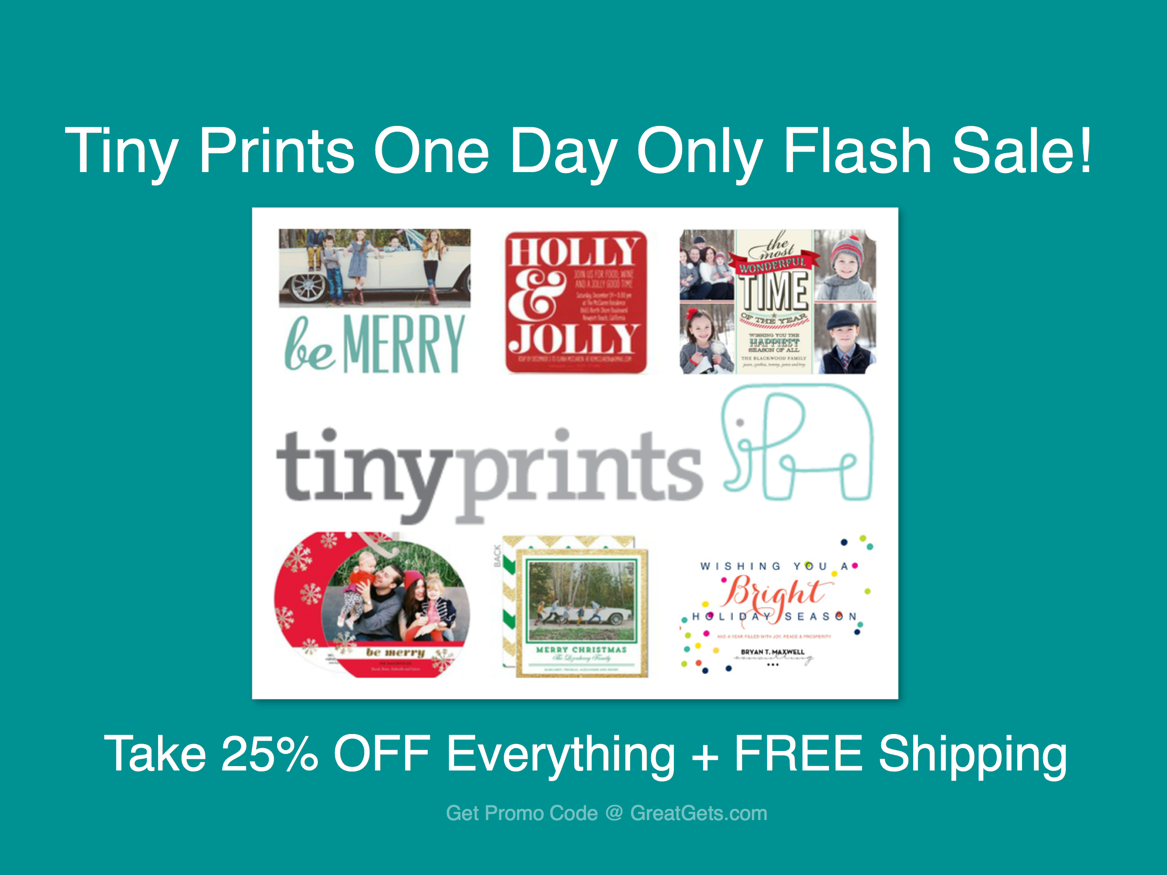 Tiny Prints is a reliable site providing all styles of online prints and home decor at the most reasonable prices. You can get here invitations, announcements, stationery and gifts and more. Check out this store today and use Tiny Prints coupon code to save up to 50% OFF and FREE shipping.