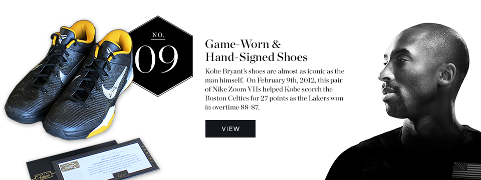 Best Holiday Gifts - Kobe Bryant Worn & Signed Shoes