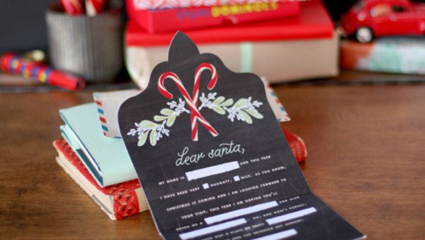 Chic Printable letter to Santa