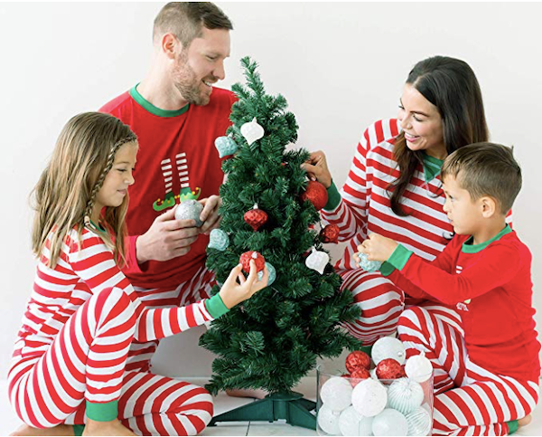 Family Mix and Match Red Striped and Elf Christmas Pajamas