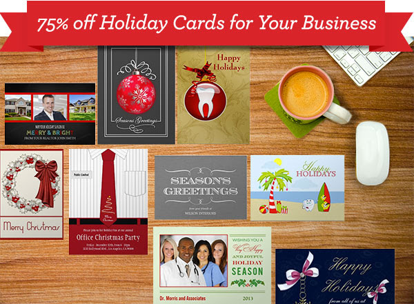 business holiday cards, corporate, typography, gifts