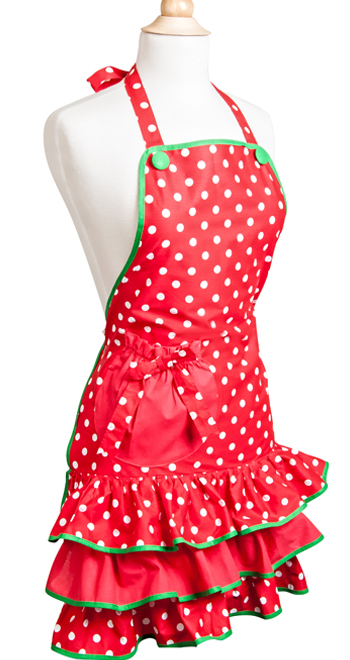 Red Holiday Flirty Apron