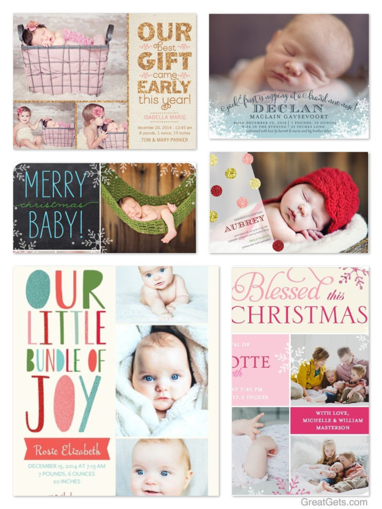 Winter Birth Announcements – Holiday Baby Announcements