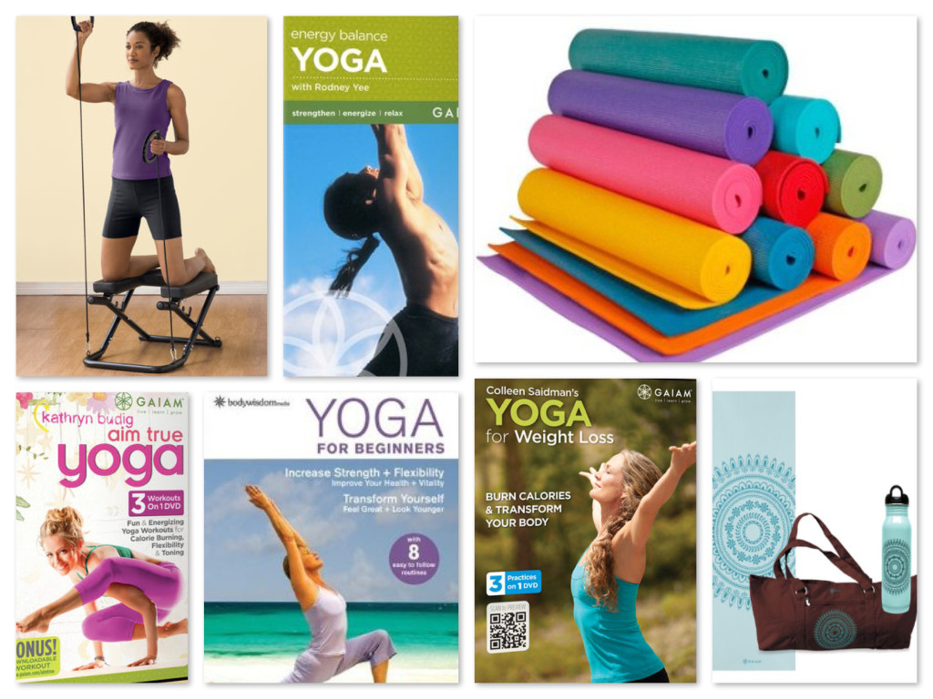Yoga dvds, mats, & accessories