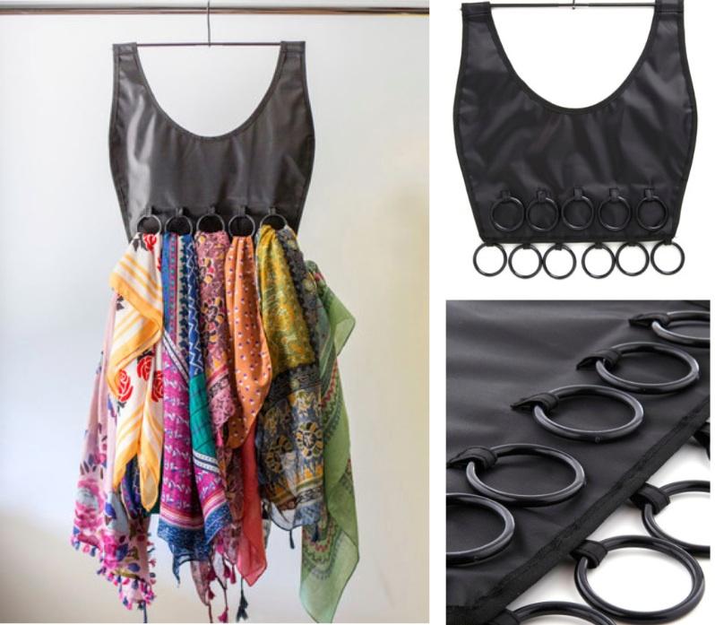 scarf organizer, closet organizer
